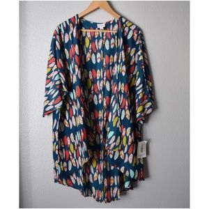 LuLaRoe Lindsay Feather CardiganCover Up Medium